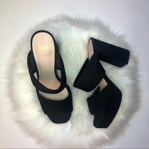 NWOT H&M Platform Block Heel Sandals